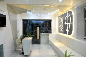 Roots dental clinic interior design by prarthit shah architects