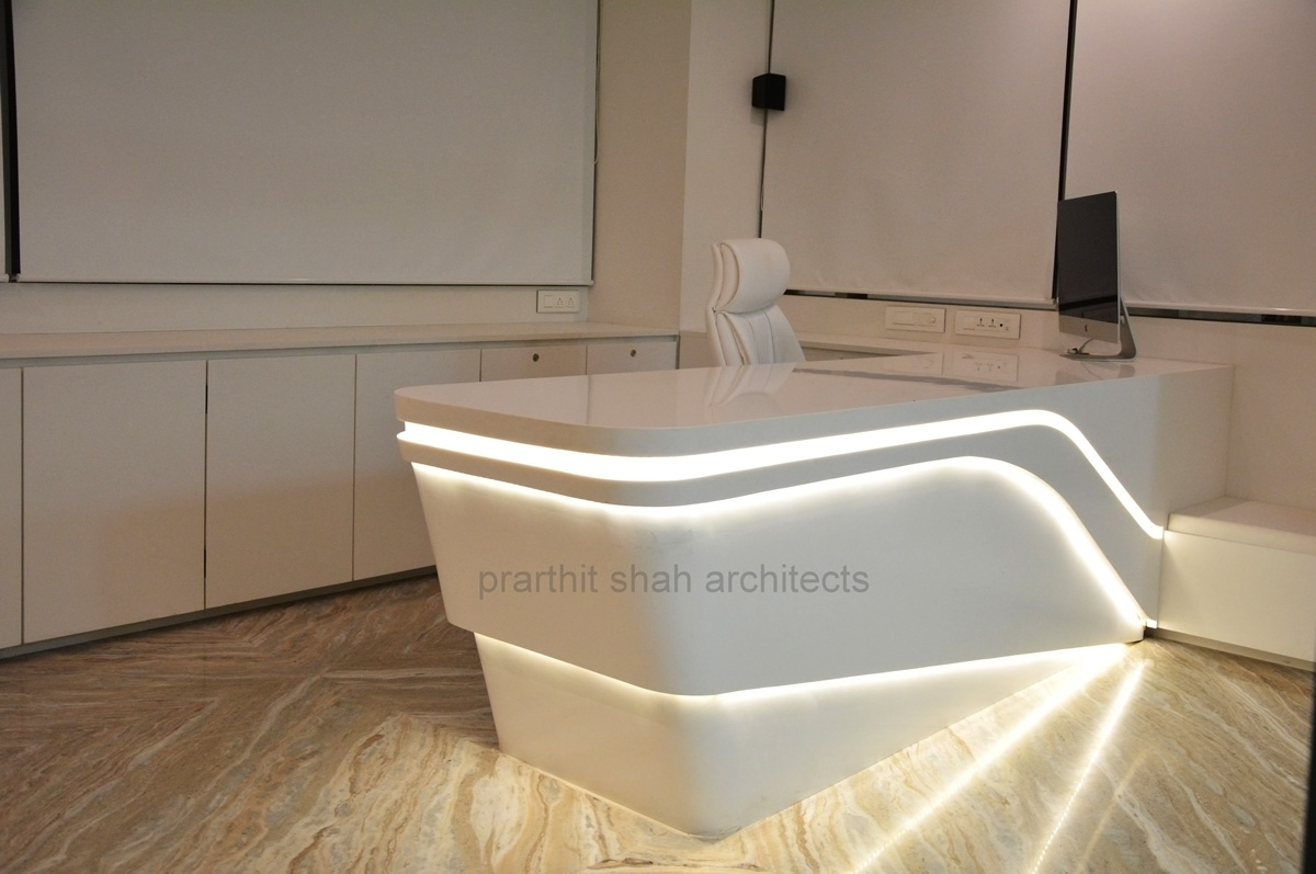 white office table design