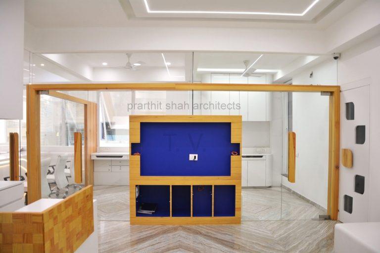 white office interior design rajkot
