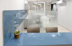 Dental clinic partition design of Maa Sharda clinic