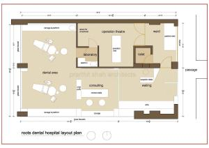 Roots dental office plan by Prarthit Shah Architects Rajkot